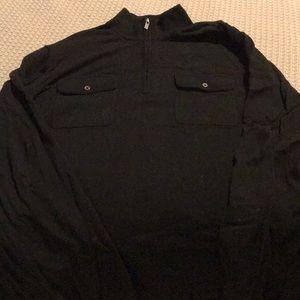Michael Kors 1/4 Zip Black Sweater